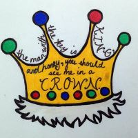 Laptop deco: Honey, you should see me in a crown by pokemoncoffeecat