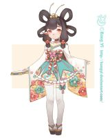 Character design--miss butterfly by kongyi