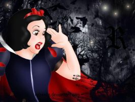 Snow White disney terror by rebenke