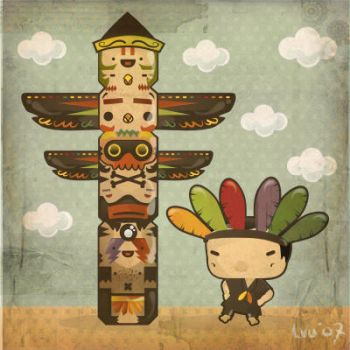 totem and the indian boy by loveshugah