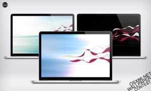 Wave Ribbon : OSX86.net Wallpaper Contest by xenatt