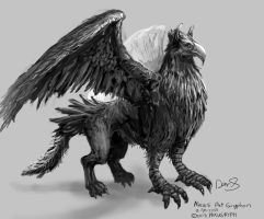 Daily Painting #40 - Gryphon by maugryph