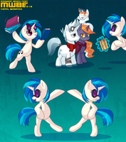 Vinyl Scratch Poses MWBF by zombie
