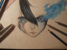 Black rock shooter (drawing in progress) by Huyen-Linh