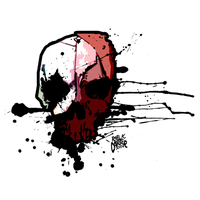 Skull Waterpaint Design by The-Morbid-Anthology