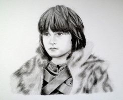 Little Bran Stark - Game of Thrones by EldalinSkywalker