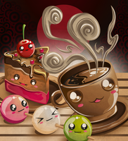 Amai Cafe portada by jml2art