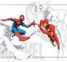 Spiderman VS Flash by KevinHarrell