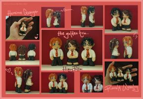 Fan-Crafts: Golden Trio Sculpt by Kinky-chichi