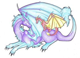 Dragon Friendship by Pii-wing