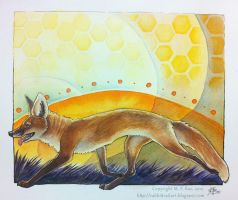2012: Honeycomb Fox by kickingrabbit
