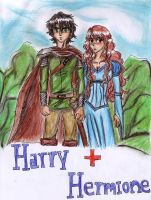 Harry+Hermione by aranelia