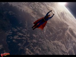 Superman in space by Sultan-Almarzoogi