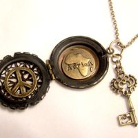 WORLD PEACE Africa Locket by SteamSociety