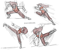movement practice 1 by kamidoodles
