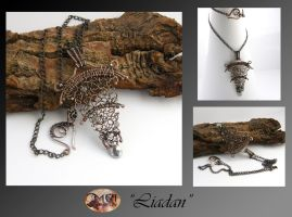 Liadan- wire wrapped pendant by mea00