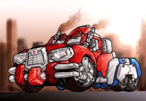 Optimus Prime Concept Convoy by dylanliwanag