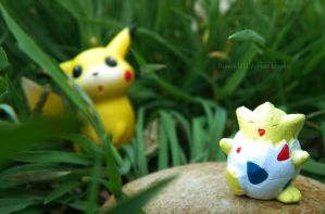 Pikachu's Easter egg hunt by Bimmi1111