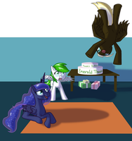 Emerald Thunders birthday party - Commission by Aramande