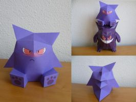 Gengar Papertoy by dodoman75