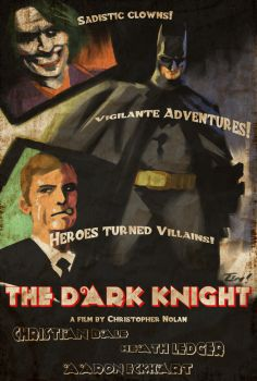 The Vintage Dark Knight by ninjaink