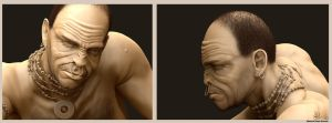 african character sculpting (portrait) by murtazasaeed