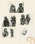 Mecha Subway Sketches 2 by dasAdam