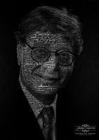 Typography portrait Mahmoud Darwish by ragheb-abuhamdan