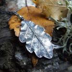 Quercus - Oak Leaf -Fine Silver Leaf Pendant by QuintessentialArts
