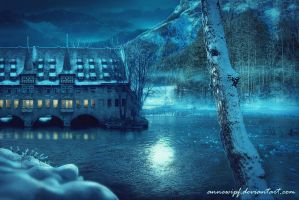Moonlit Inn by annewipf