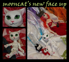 mooncat's new faceup by hawthorne-cat