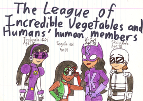 Veggie Tales - TLoIVaH's four human members by Magic-Kristina-KW