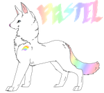 Canine Adopt #1~Pastel by RainbowCowAdopts