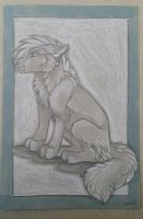 Toned gray paper sketch commission by nightspiritwing