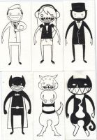 Excerpt of Tiny Ink Drawings by coerul