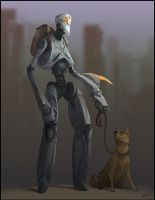 Wandering Robot by GuthrieArtwork