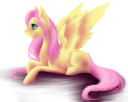 A wild Fluttershy appeared by GreyeWolf