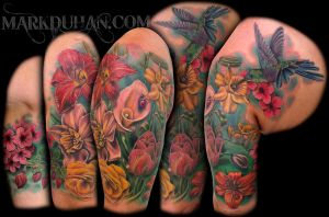 FLOWER HALF SLEEVE by amduhan