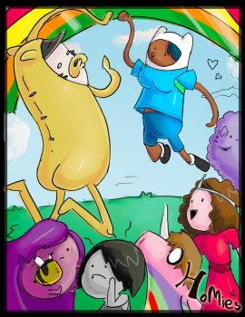 Adventure Time with Friends Go by CryingCrimsonTears