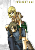 RE Ashley and Leon by FiammahGrace