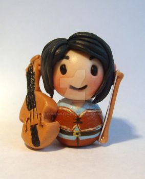 Chibi half elf bard miniature by ComeNozes