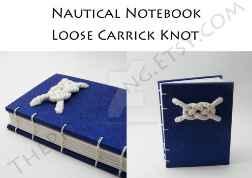 Nautical Knot Notebook - Coptic Stitch by ThePressGang-ink