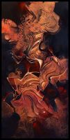 Grenat abstract painting by Amytea