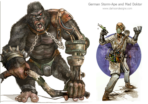 Storm-Ape and Mad Doktor by Monkey-Paw
