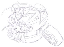 Sheik Mario Kart Wii sketch by AngelofHapiness