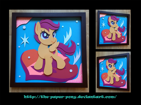 12x12 Cutie Mark Scootaloo Shadowbox by The-Paper-Pony