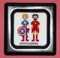 Superhusbands Pixel People Cross Stitch by chujo-hime