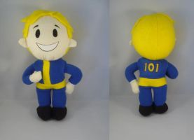 Fallout 3 Vault boy plush by pandari
