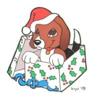 christmas beagle by kryz-flavored
