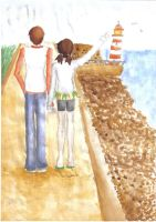 Paint - The couple beside the sea by Misha-chan-703